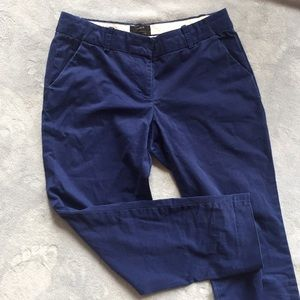 J. Crew cafe capri navy chinos trousers size 2